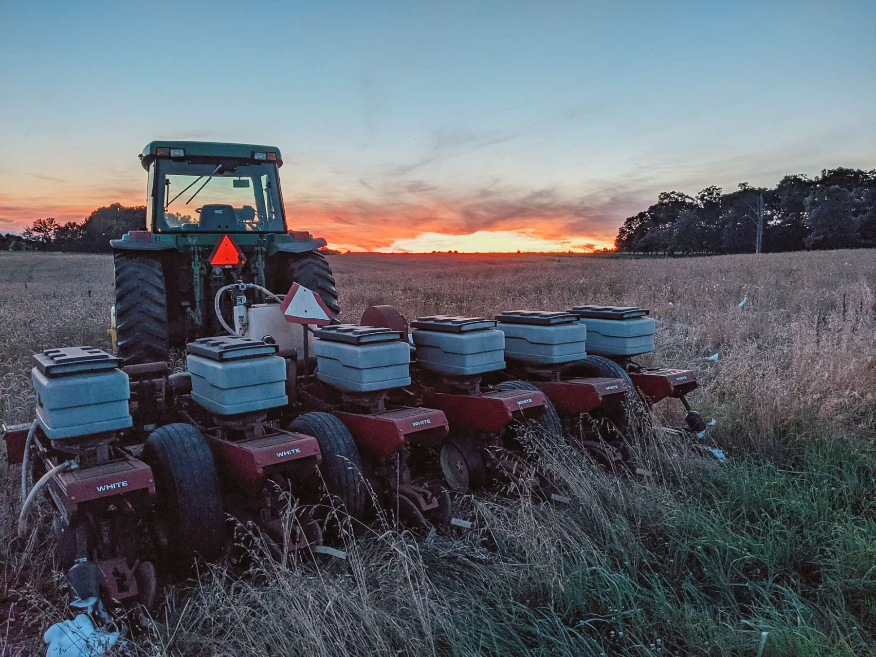 Planting the 2021 Corn Maze