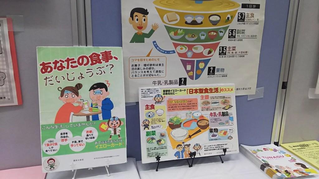 ふたば会 食育キャンペーン 展示