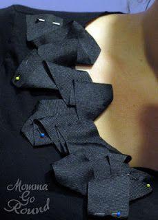 DIY personalizar un vestido con cinta de lazo
