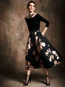 falda de brocado