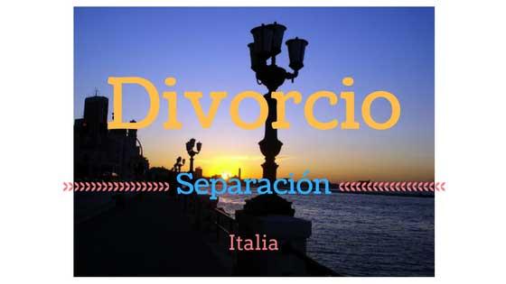 Separación y Divorcio en Italia