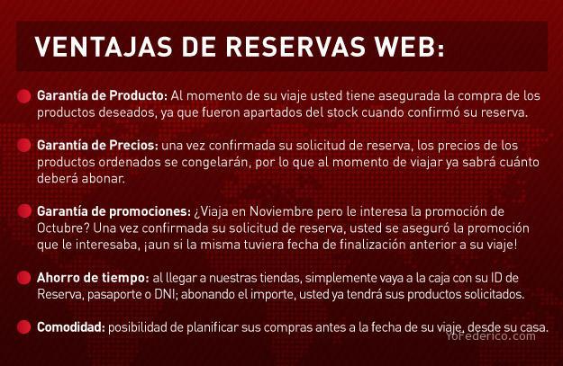 Ventajas del Sistema de Reservas Online del Duty Free Shop Argentina