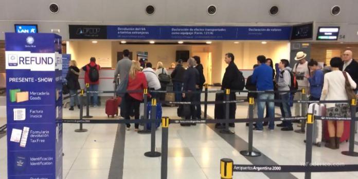 AFIP en el Aeropuerto de Ezeiza