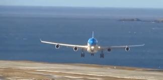 Aterrizaje glorioso de Aerolíneas Argentinas en Ushuaia con viento cruzado