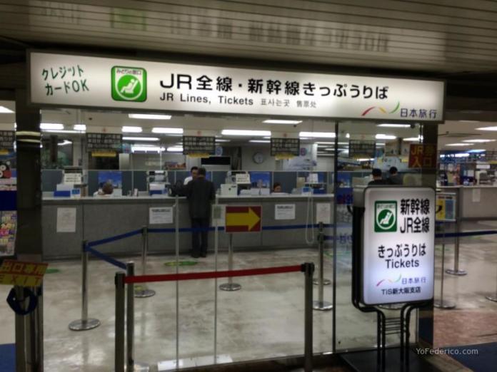 Oficina de venta de tickets para los trenes de Japan Rail