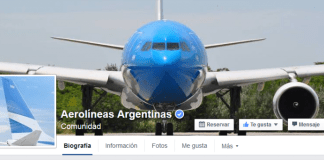 aerolineas argentinas facebook