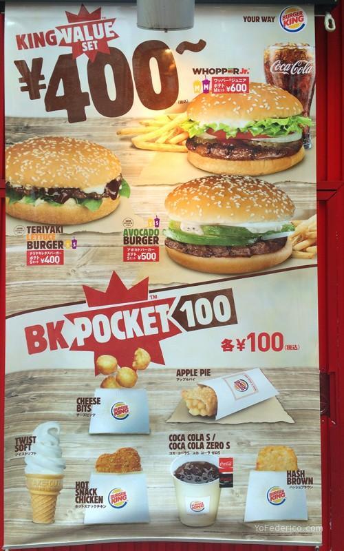 Burger King Tokyo Japon