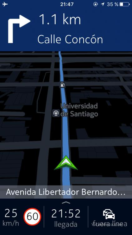 Santiago Chile Here Nokia GPS offline app