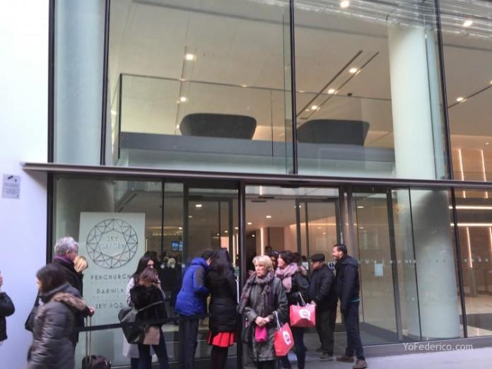 SKY GARDEN mirador gratuito en Londres
