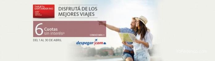 Santander Río bajó de 12 a 6 cuotas sin interés en Despegar 1