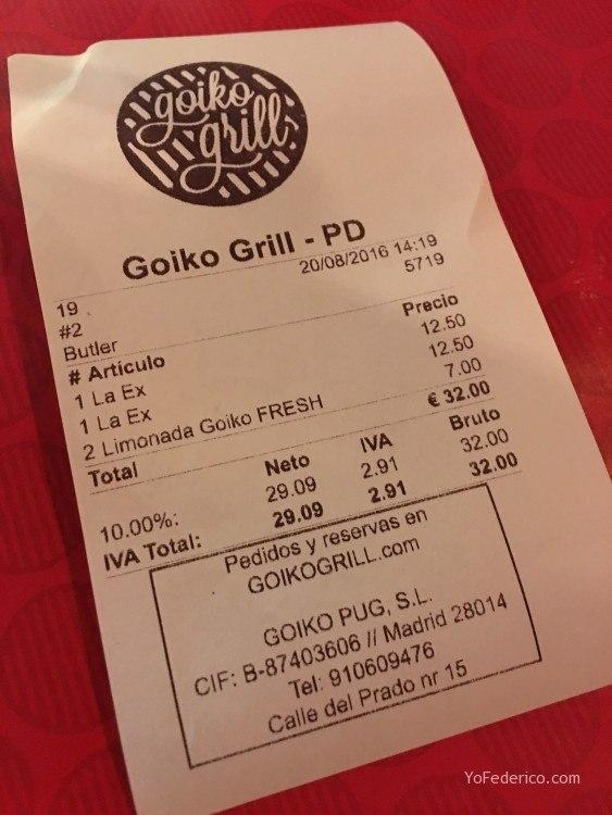 Goiko Grill, hamburguesas deliciosas en Madrid 4