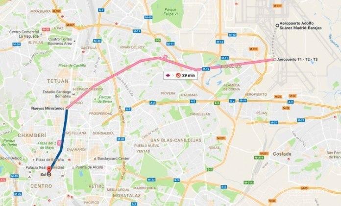 Cómo ir en Metro desde el Aeropuerto de Barajas a Madrid 8