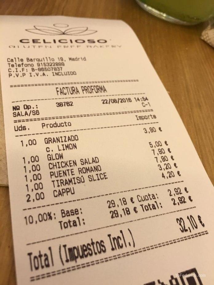 Celicioso, comer súper rico y sin gluten en Madrid 2