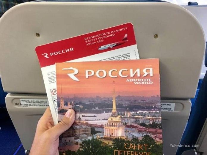 Vuelo de Praga a San Petersburgo en AeroFlot 8