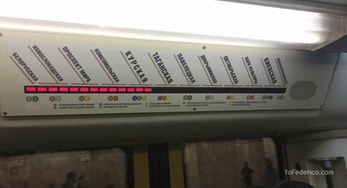 Metro desde la estación de Moscú al centro 8