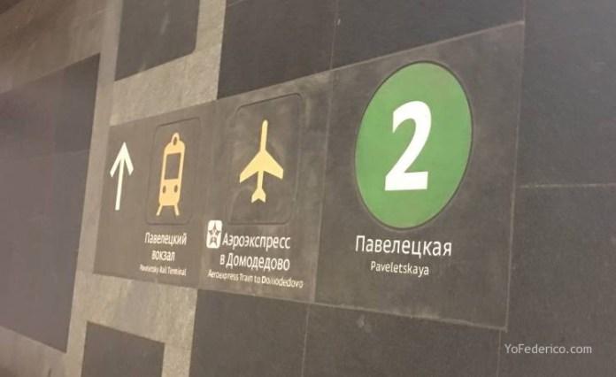 Metro desde la estación de Moscú al centro 10