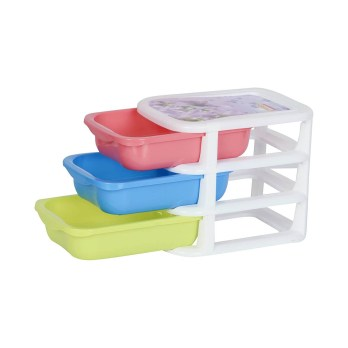 Aristo Plastic Sigma Small Drawer-3 Tier
