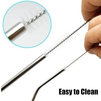 Yofer Stainless Steel Straw Cleaning Brush, 10 pcs-Set
