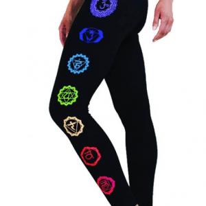 Yoga legging 'Chakra' zwart S