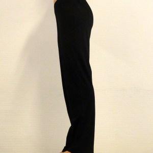 Yoga broek lang biologisch katoen zwart - Yoganic