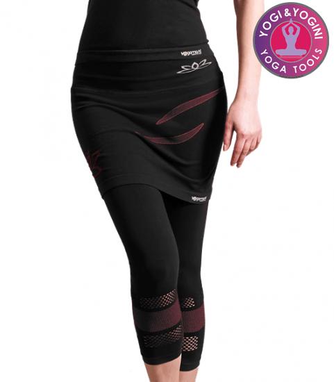 Yoga broek capri rok zwart