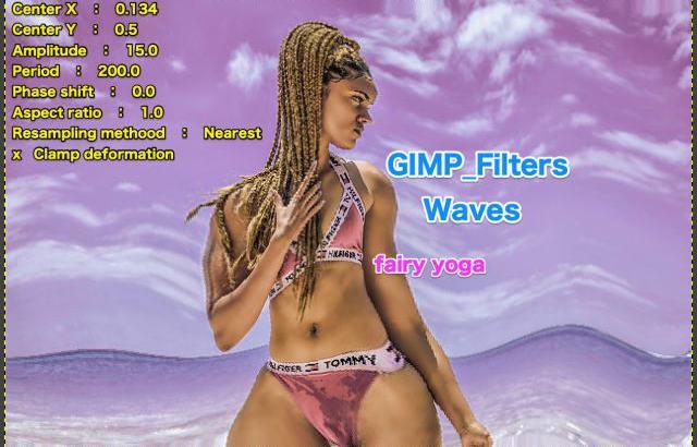 GIMP💙WordPress画像編集に使えるGIMPフィルター(Filters)_変形(Distorts)_波(Waves)続篇💘GIMP_Filters効果💖GIMP for Mac