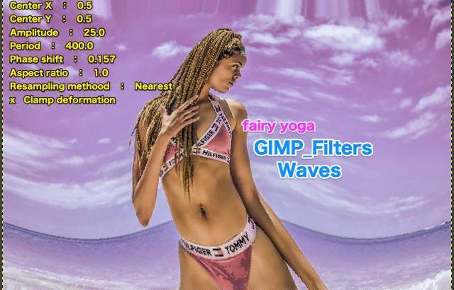 GIMP💙WordPress画像編集に使えるGIMPフィルター(Filters)_変形(Distorts)_波(Waves)続続篇💘GIMP_Filters効果💖GIMP for Mac