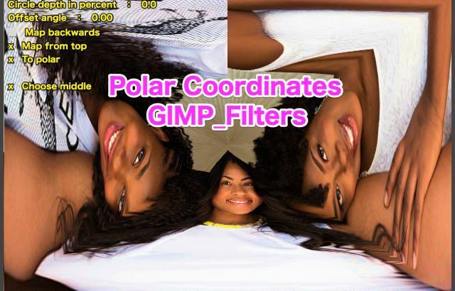 GIMP💙WordPress画像編集に使えるGIMPフィルター(Filters)_変形(Distorts)_極座標(Polar Coordinates)💘GIMP_Filters効果💖GIMP for Mac