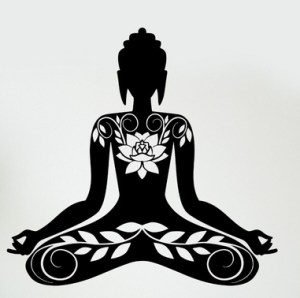 buddha-vinyl-decal-buddha-meditation-mantra-font-b-zen-b-font-yoga-mural-art-wall-sticker