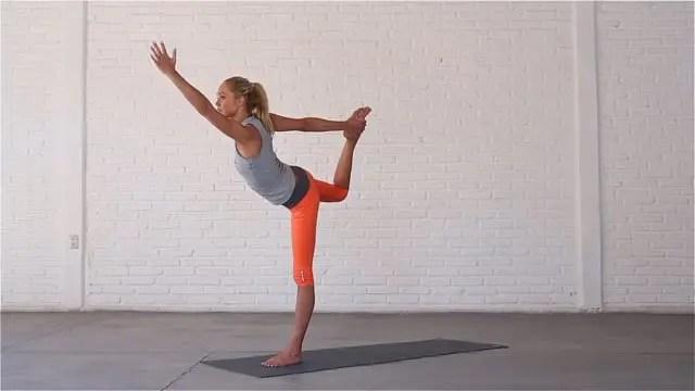 Dancer is a challenging balancing posture.