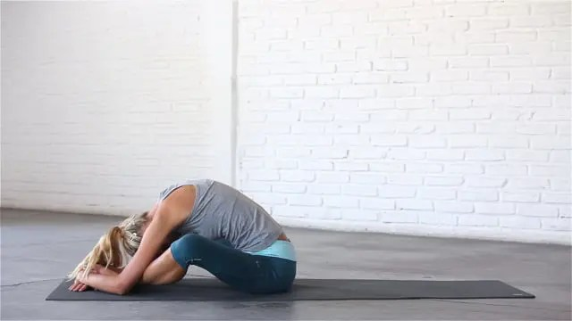 Folded Butterfly opens up the hips.