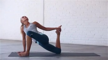 Half-Twisted is a deep hip flexor stretch.