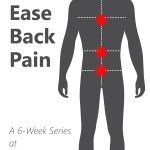 back pain silhouette with words