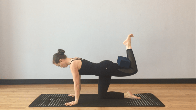hamstring strength in yoga, Table pose variation