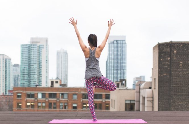 urban yoga practitioner