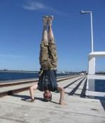Busselton Jetty Headstand, Busselton, WA, Australia