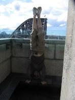 Sydney Harbour Bridge Headstand, Sydney, NSW, Australia