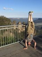Three Sisters Headstand, Katoomba, NSW, Australia