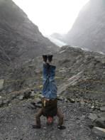 Franz Josef Glacier Headstand, New Zealand