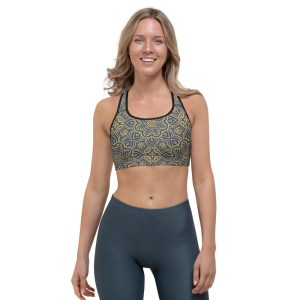 Emerald Gold Sports Bra