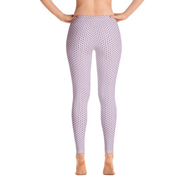 Lavender Tribal Dot Yoga Leggings