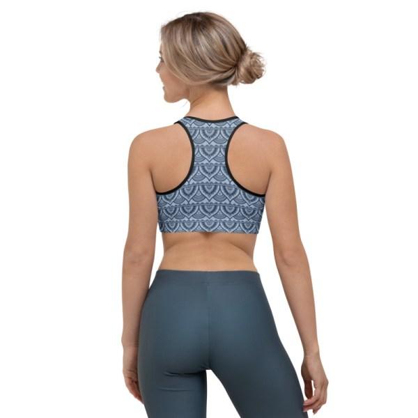 Blue Mehndi Yoga Bra