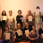 Absolventinnen der Yoga Ausbildung in Berlin