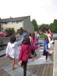 Yoga centre nautique d'Ambert_posture du héros