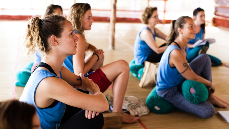 500 Hour Yoga Teacher Training Students in Lecture