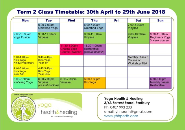 Timetable Term 2 updated