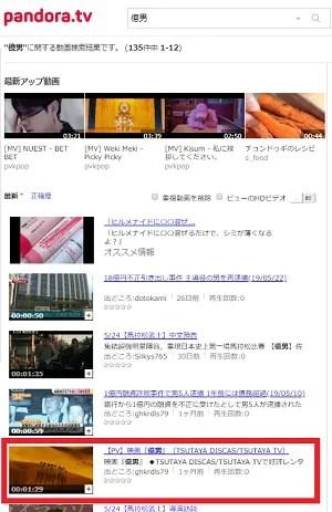 映画「億男」動画をpandoraで検索した結果