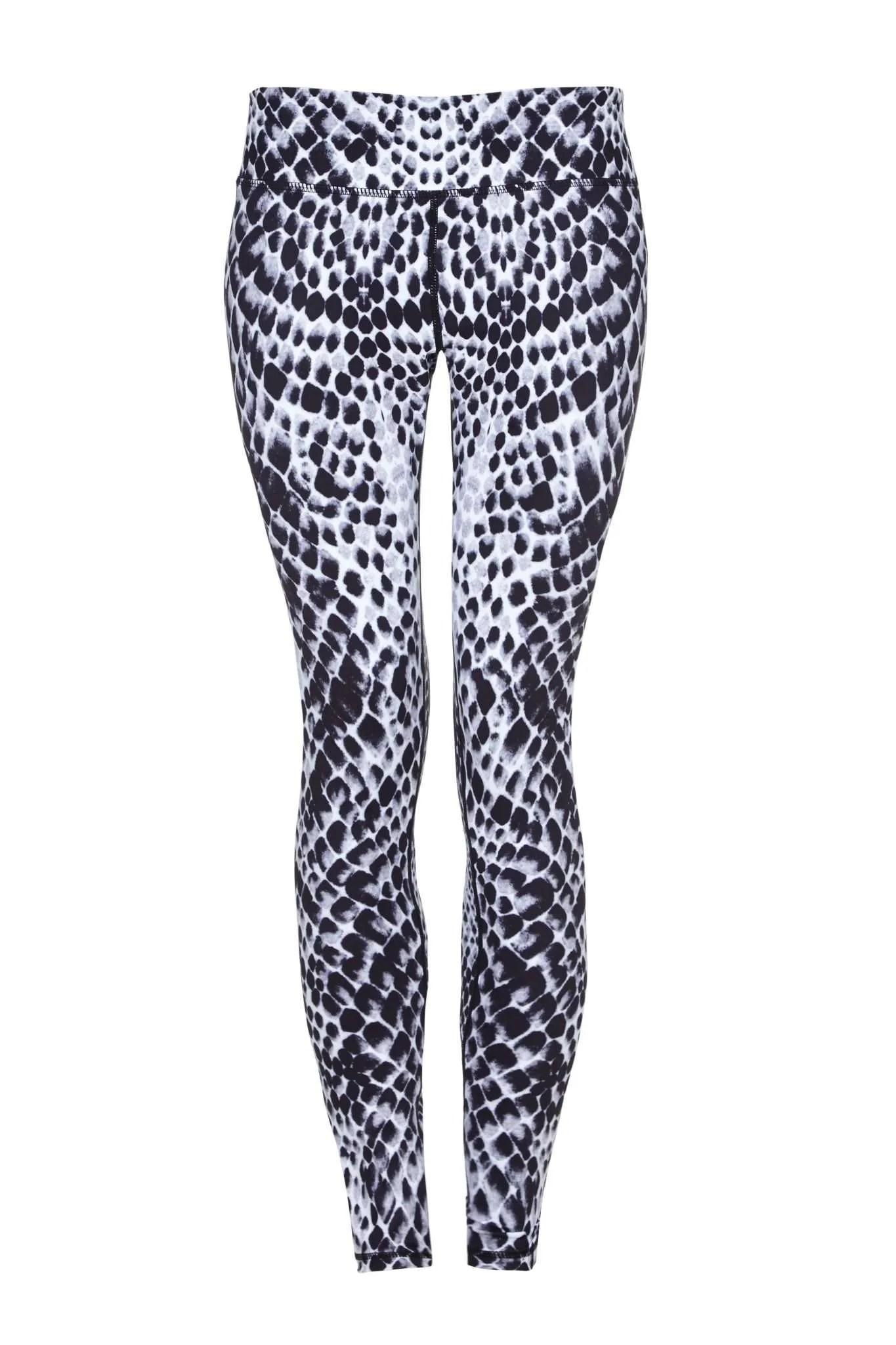 Full Length Workout Yoga Pants with Snake Print BSP Womens High Waist Leggings