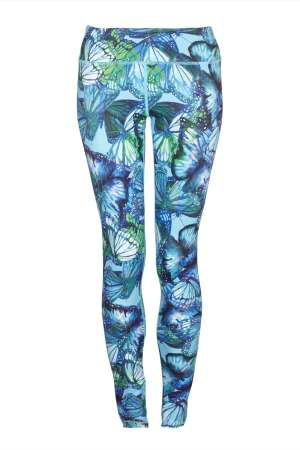 c0199f7a731f9 BUTTERFLY YOGA PANTS – HIGHER WAISTED – BUTTERFLY PRINT LEGGINGS – FULL  LENGTH