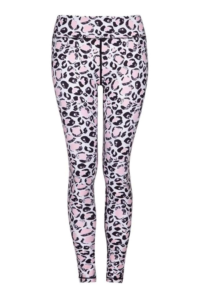 Leggings Full Length Pink Leopard_F
